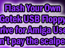 Flas a USB drive to use in an Amiga Gotek