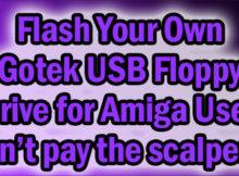 Flas a USB drive to use in an Amiga Gotek